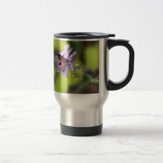 Polilla hermosa taza de viaje de acero inoxidable