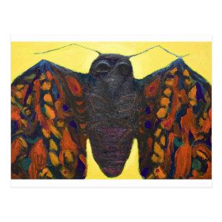 Polilla negra pintura surrealista del insecto