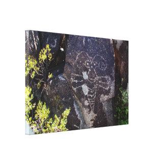 Polilla Petrogyph Impresión En Tela