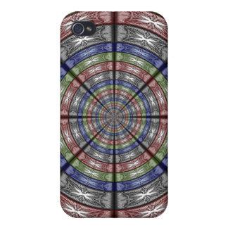 Polilla RGB grande redonda iPhone 4 Funda