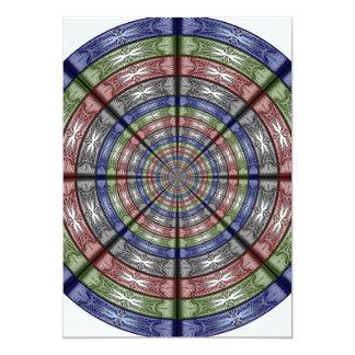 """Polilla RGB grande redonda Invitación 5"""" X 7"""""""