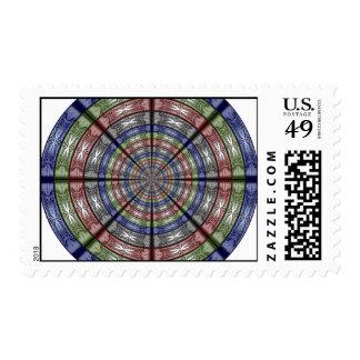 Polilla RGB grande redonda Franqueo