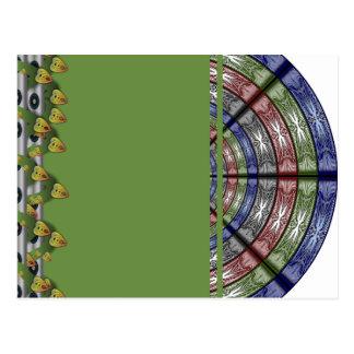 Polilla RGB grande redonda Tarjeta Postal
