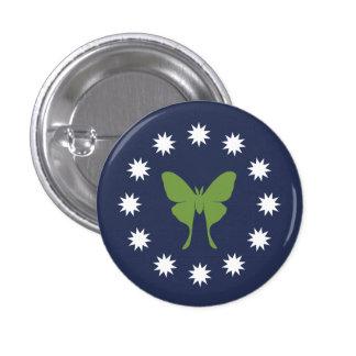 Polilla y botón de los insectos pin redondo de 1 pulgada
