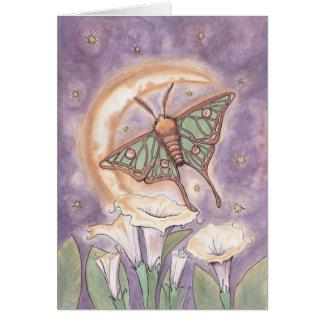 Polilla y Moonflowers Tarjeta De Felicitación