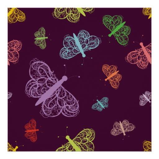 Polillas de la polilla de las mariposas de la mari poster