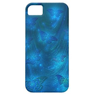 Polillas mágicas en azul iPhone 5 Case-Mate coberturas