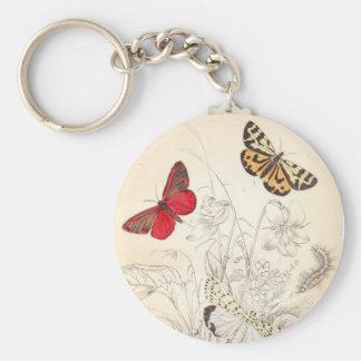 Polillas y mariposas llavero redondo tipo pin