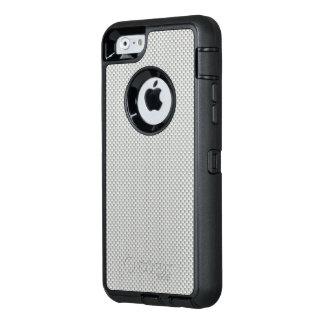 Polímero blanco y gris de la fibra de carbono funda OtterBox defender para iPhone 6