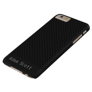 Polímero negro del grafito de la fibra de carbono funda de iPhone 6 plus barely there
