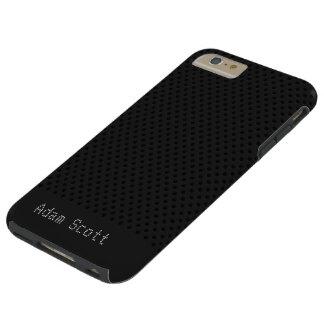 Polímero negro del grafito de la fibra de carbono funda de iPhone 6 plus tough