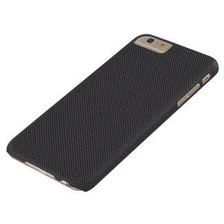 Polímero negro y gris de la fibra de carbono funda barely there iPhone 6 plus