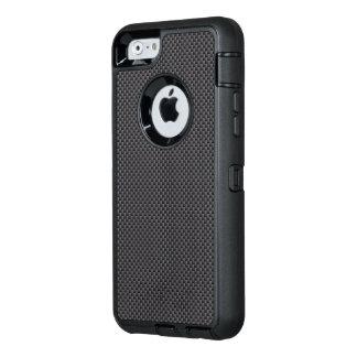 Polímero negro y gris de la fibra de carbono funda OtterBox defender para iPhone 6