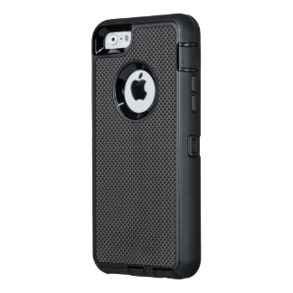 Polímero negro y gris de la fibra de carbono funda otterbox para iPhone 6/6s