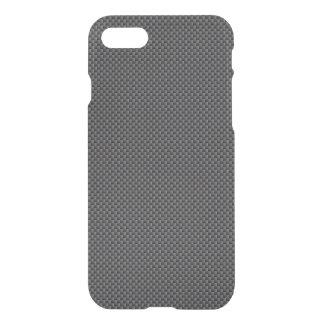 Polímero negro y gris de la fibra de carbono funda para iPhone 7