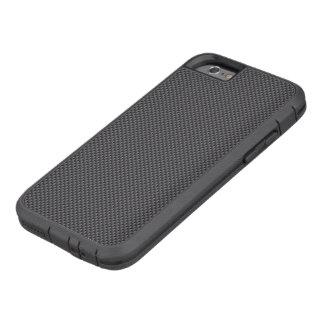 Polímero negro y gris de la fibra de carbono funda tough xtreme iPhone 6