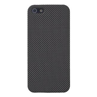 Polímero negro y gris de la fibra de carbono iPhone 5 carcasas