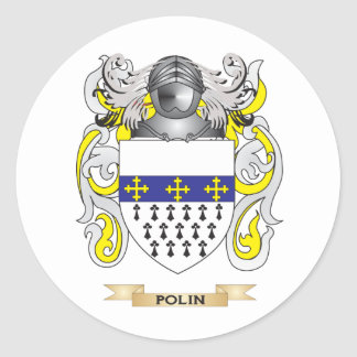 Polin Coat of Arms (Family Crest) Round Stickers