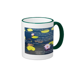 Polinating the Lotus poster 1 Coffee Mugs