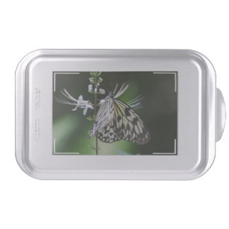 Polinating White and Black Butterfly Cake Pan