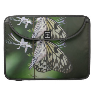 Polinating White and Black Butterfly MacBook Pro Sleeves