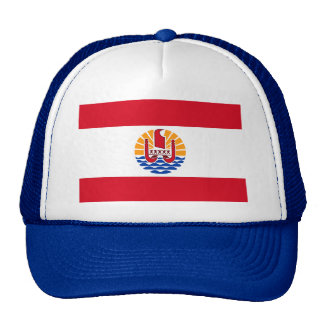 Polinesia francesa, bandera gorras de camionero
