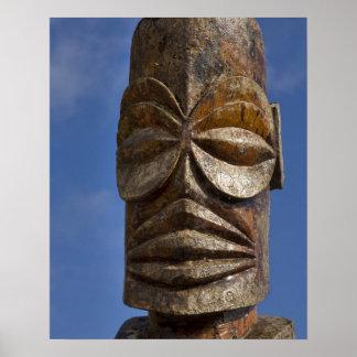 Polinesia francesa, islas de cocinero, Rarotonga, Póster