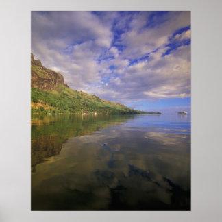 Polinesia francesa, Moorea. Bahía de los cocineros Póster