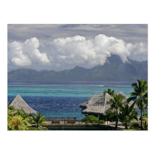 Polinesia francesa, Moorea. Una vista de la isla Tarjetas Postales