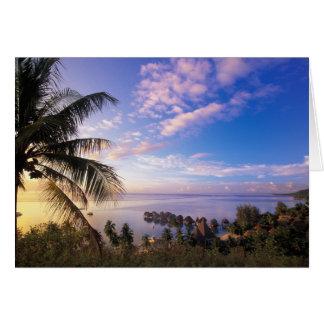 Polinesia francesa, Moorea. Vista del Baie de Tarjeta De Felicitación