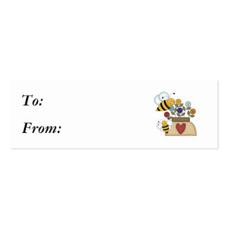 polinización feliz tarjetas de visita mini