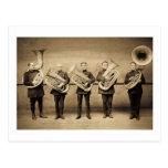 Polis de la tuba (sepia) postales