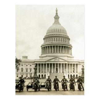 Polis de motocicleta de los años 20 del vintage postal