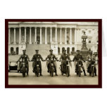 Polis de motocicleta de los años 20 del vintage tarjetón