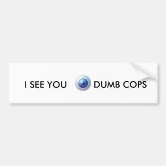 polis mudos pegatina para auto