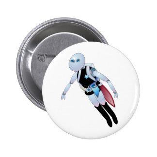 Polis robóticos 2099 pin redondo 5 cm