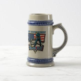 Polis y ladrones jarra de cerveza