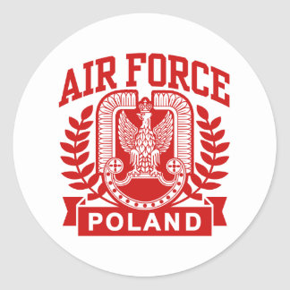 Polish Air Force Classic Round Sticker