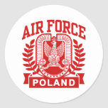 Polish Air Force Round Stickers