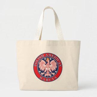 Polish American Babcia Large Tote Bag