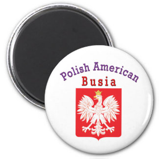 Polish American Busia 2 Inch Round Magnet