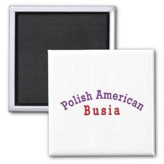 Polish American Busia 2 Inch Square Magnet