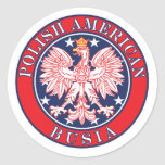 Polish American Busia Round Sticker