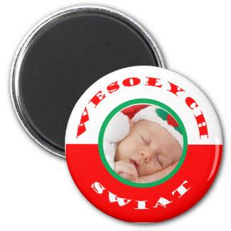 Polish-American Christmas Photo Magnet