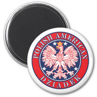 Polish American Dziadek 2 Inch Round Magnet