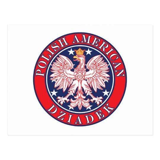Polish American Dziadek Postcard