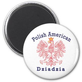Polish American Dziadzia 2 Inch Round Magnet