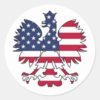 Polish American Eagle Classic Round Sticker