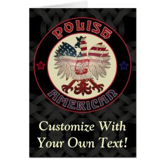 Polish American Eagle Greetings Card