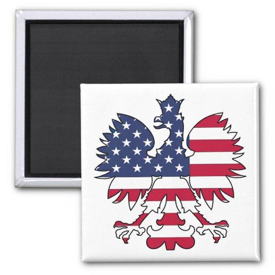 Polish American Eagle Magnet